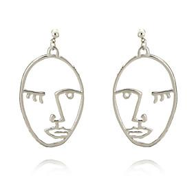 levne Šperky&Hodinky-Dámské Náušnice - Kruhy Geometrik Módní Náušnice Šperky Zlatá / Stříbrná Pro Ležérní Street
