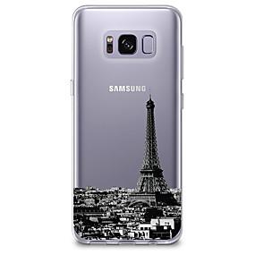 voordelige Galaxy S7 Edge Hoesjes / covers-hoesje Voor Samsung Galaxy S8 Plus / S8 / S7 edge Ultradun / Transparant / Patroon Achterkant Uitzicht op de stad Zacht TPU