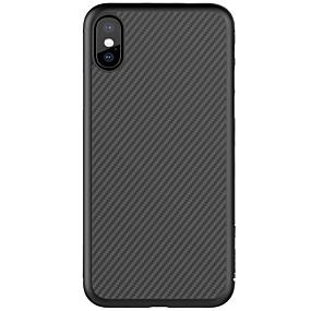 olcso iPhone tokok-Nillkin Case Kompatibilitás Apple iPhone X / iPhone 8 / iPhone 8 Plus Ultra-vékeny / Minta Fekete tok Vonalak / hullámok Kemény Szénrost mert iPhone X / iPhone 8 Plus / iPhone 8