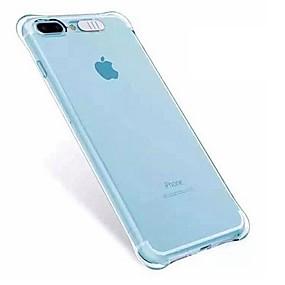 abordables Coques d'iPhone-Coque Pour Apple iPhone X / iPhone 8 / iPhone 8 Plus Antichoc / Lampe LED Allumage Auto Coque Transparente Flexible TPU pour iPhone X / iPhone 8 Plus / iPhone 8