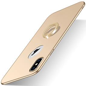 halpa iPhone 5S / SE kotelot-kotelo iphone xr xs xs max jalustalla / rengaspidikkeellä / himmeällä selkäkannella kiinteä värillinen kovalevy iphone x 8 8 plus 7 7plus 6s 6s plus se 5 5s