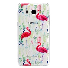 voordelige Galaxy J5(2017) Hoesjes / covers-hoesje Voor Samsung Galaxy J7 (2016) / J5 (2017) / J5 (2016) Transparant / Reliëfopdruk / Patroon Achterkant Flamingo Zacht TPU