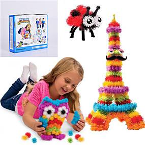 povoljno Potrepštine za dom-novi bunchems dobar paket novogradnja igračke 370 komada DIY djeca igraju 36. pribora kit djece najljepši dar