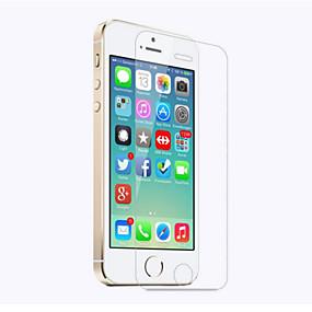 abordables Protections Ecran pour iPhone-Protecteur d'écran pour Apple iPhone SE / 5s / iPhone 5 / iPhone 5c Verre Trempé 1 pièce Ecran de Protection Avant Haute Définition (HD) / Dureté 9H / Coin Arrondi 2.5D