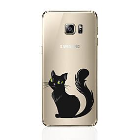 voordelige Galaxy S6 Edge Plus Hoesjes / covers-hoesje Voor Samsung Galaxy S8 Plus / S8 / S7 edge Patroon Achterkant Kat Zacht TPU