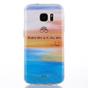 voordelige Galaxy S7 Hoesjes / covers-hoesje Voor Samsung Galaxy S7 edge / S7 IMD Achterkant Woord / tekst / Landschap Zacht TPU