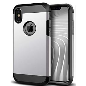 olcso iPhone tokok-Case Kompatibilitás iPhone 5 / Apple / iPhone X iPhone X / iPhone 8 / iPhone 5 tok Ütésálló Fekete tok Páncél Puha Szilikon mert iPhone X / iPhone 8 Plus / iPhone 8