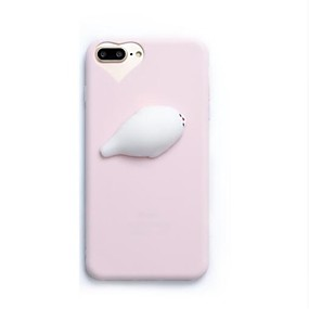 abordables Coques d'iPhone-Coque Pour iPhone 7 / Apple iPhone 8 / iPhone 7 Squishy Coque Intégrale Dessin Animé 3D Flexible Silicone pour iPhone 8 / iPhone 7