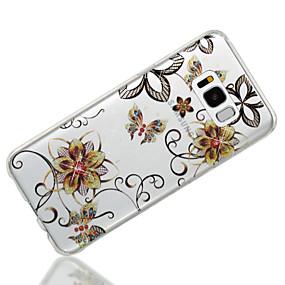 billige Samsung-tilbehør - nyheder-Etui Til Samsung Galaxy S8 Plus / S8 IMD / Mønster Bagcover Sommerfugl / Glitterskin / Blomst Blødt TPU for S8 Plus / S8 / S7 edge
