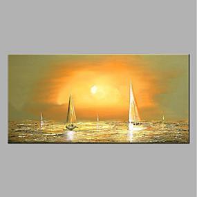 ieftine Casă & Grădină-Hang-pictate pictură în ulei Pictat manual - Abstract Modern Fără a cadru interior / Canvas laminat