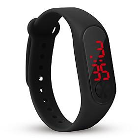 billige kvinners digitale klokker-Dame Digital Watch Square Watch Digital Silikon Svart / Hvit / Blå Kronograf Hverdagsklokke Kul Digital Fritid Mote Minimalistisk - Rød Grønn Blå