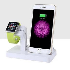 billige Apple-tilbehør-Apple Watch Stativ med adapter ABS Skrivebord
