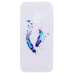 Недорогие Чехлы и кейсы для Galaxy S5 Mini-Кейс для Назначение SSamsung Galaxy S9 / S9 Plus / S8 Plus С узором Кейс на заднюю панель Перья Мягкий ТПУ