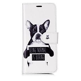 voordelige Galaxy S7 Hoesjes / covers-hoesje Voor Samsung Galaxy S8 Plus / S8 / S7 edge Portemonnee / Kaarthouder / Flip Volledig hoesje Hond / Woord / tekst Hard PU-nahka