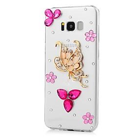 voordelige Galaxy S7 Edge Hoesjes / covers-hoesje Voor Samsung Galaxy S8 Plus / S8 / S7 edge Strass / Patroon Achterkant Vlinder / dier Hard Acryl