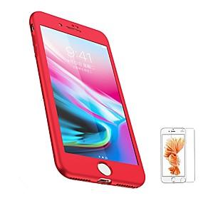 abordables Coques d'iPhone-Coque Pour Apple iPhone 8 / iPhone 8 Plus Dépoli Coque Intégrale Couleur Pleine Flexible TPU pour iPhone 8 Plus / iPhone 8 / iPhone 7 Plus