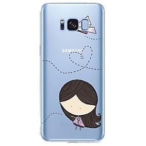 voordelige Galaxy S6 Edge Plus Hoesjes / covers-hoesje Voor Samsung Galaxy Patroon Sexy dame / Cartoon Zacht