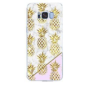 voordelige Galaxy S7 Hoesjes / covers-hoesje Voor Samsung Galaxy S8 Plus / S8 / S7 edge Patroon Achterkant Fruit / Marmer Zacht TPU