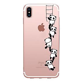 olcso iPhone tokok-Apple iphone xr xs xs max átlátszó / minta hátlap panda puha tpu iphone x 8 8 és 7 7plus 6s 6s plus se 5 5s