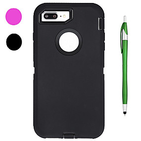 ราคาถูก เคสสำหรับ iPhone-Case สำหรับ Apple iPhone X / iPhone 8 Shockproof / น้ำ / ดิน / ช็อกหลักฐาน / with Window ตัวกระเป๋าเต็ม สีพื้น Soft ซิลิโคน สำหรับ iPhone X / iPhone 8 Plus / iPhone 8