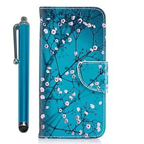 voordelige Galaxy J7(2017) Hoesjes / covers-hoesje Voor Samsung Galaxy J7 (2017) / J7 (2016) / J5 Prime Portemonnee / Kaarthouder / met standaard Volledig hoesje Boom / Bloem Hard PU-nahka