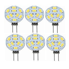 abordables Luces LED de Doble Pin-SENCART 6pcs 2 W Luces LED de Doble Pin 360 lm G4 T 9 Cuentas LED SMD 5730 Decorativa Blanco Cálido 12 V