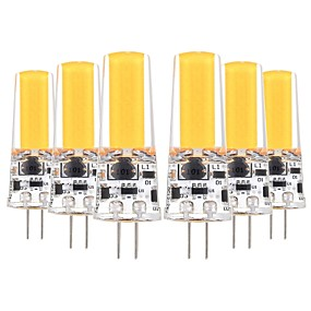 abordables Luces LED de Doble Pin-YWXLIGHT® 6pcs 5 W Luces LED de Doble Pin 400-500 lm G4 T 1 Cuentas LED COB Decorativa Blanco Cálido Blanco Fresco 12-24 V 12 V