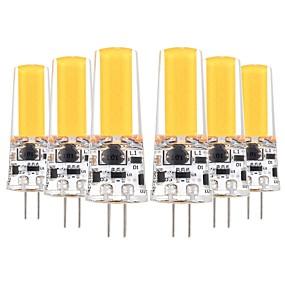 رخيصةأون مصابيح ليد ثنائية-YWXLIGHT® 6PCS 5 W أضواء LED Bi Pin 400-500 lm G4 T 1 الخرز LED COB ديكور أبيض دافئ أبيض كول 12-24 V 12 V