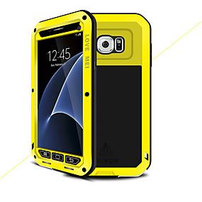 voordelige Galaxy S7 Hoesjes / covers-hoesje Voor Samsung Galaxy S7 Water / Dirt / Shock Proof Volledig hoesje Effen Kleur Hard Metaal