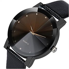 זול שעונים אופנתיים-בגדי ריקוד נשים שעוני שמלה דמוי עור מרופד שחור / כסף כרונוגרף שעונים יום יומיים אנלוגי קלסי אופנתי אלגנטית - שחור כסף /  שחור שחור / אפור שנה אחת חיי סוללה / SSUO LR626