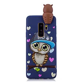 voordelige Galaxy S7 Hoesjes / covers-hoesje Voor Samsung Galaxy S9 / S9 Plus / S8 Plus Schokbestendig / Patroon / DHZ Achterkant Cartoon / 3D Cartoon / Uil Zacht TPU