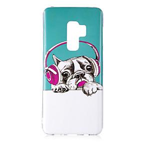 voordelige Galaxy S7 Hoesjes / covers-hoesje Voor Samsung Galaxy S9 / S9 Plus / S8 Plus Glow in the dark / IMD / Patroon Achterkant Hond / Schijnen Zacht TPU