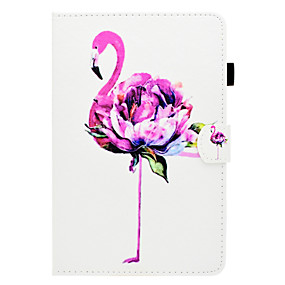 cheap Clearance-Case For Apple iPad mini 4 / iPad Mini 3/2/1 Card Holder / with Stand / Flip Full Body Cases Flamingo Hard PU Leather for iPad Mini 3/2/1 / iPad Mini 4