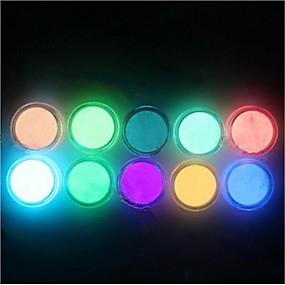 billige Kæledyr, Legetøj og hobbyartikler-10pcs Glitter Powder Lyser i Mørket / Bling bling Suits / Nail Art Tool