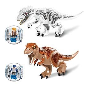 olcso Játékok & hobbi-LELE Építőkockák Katonai blokkok Építési készlet játékok Dinoszaurus Állat Katona összeegyeztethető Legoing Állatok Fiú Lány Játékok Ajándék / Fejlesztő játék