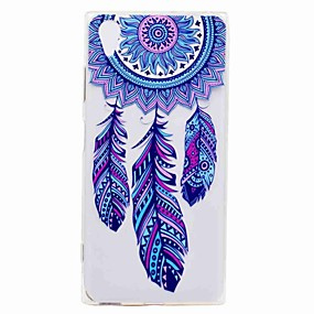 cheap Sony-Case For Sony Xperia XA2 Ultra / Xperia L2 Transparent / Pattern Back Cover Dream Catcher Soft TPU for Xperia XA2 Ultra / Xperia XA2 / Xperia XZ1 Compact