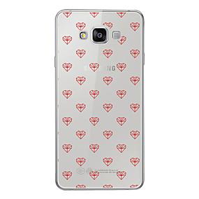 voordelige Galaxy A7(2016) Hoesjes / covers-hoesje Voor Samsung Galaxy A3 (2017) / A5 (2017) / A7 (2017) Patroon Achterkant Hart Zacht TPU