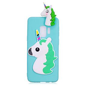 voordelige Galaxy S7 Edge Hoesjes / covers-hoesje Voor Samsung Galaxy S9 / S9 Plus / S8 Plus Schokbestendig / DHZ Achterkant Eenhoorn / 3D Cartoon Zacht TPU