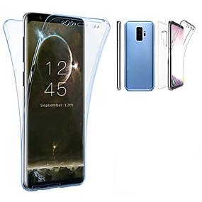 voordelige Galaxy S7 Edge Hoesjes / covers-hoesje Voor Samsung Galaxy S9 / S9 Plus / S8 Plus Doorzichtig Volledig hoesje Effen Zacht TPU
