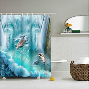 halpa Kylpyhuonetarvikkeet-Suihkuverhot ja koukut Klassinen Polyesteri Uutuudet Tehty koneellisesti Vedenkestävä Kylpyhuone