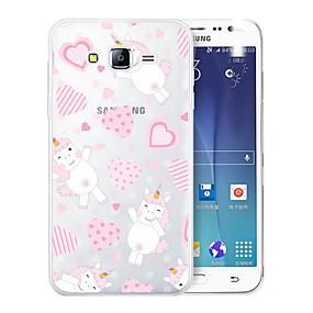 voordelige Galaxy J7 Hoesjes / covers-hoesje Voor Samsung Galaxy J7 (2017) / J7 (2016) / J7 Patroon Achterkant Hart / Eenhoorn / Cartoon Zacht TPU
