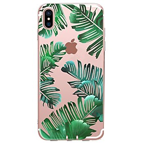 abordables Coques d'iPhone-Coque Pour Apple iPhone X / iPhone 8 Motif Coque Plantes Flexible TPU pour iPhone X / iPhone 8 Plus / iPhone 8