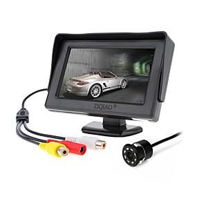 voordelige Auto-elektronica-ziqiao 4.3 inch monitor en 8led ccd hd auto achteruitrijcamera