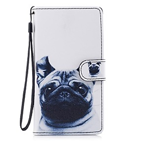 voordelige Galaxy J3(2017) Hoesjes / covers-hoesje Voor Samsung Galaxy J5 (2017) / J5 (2016) / J3 (2017) Portemonnee / Kaarthouder / met standaard Volledig hoesje Hond Hard PU-nahka