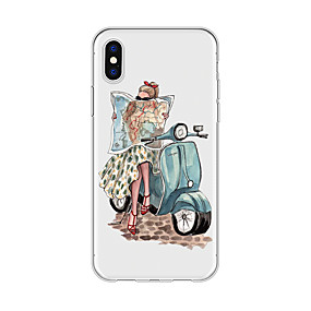 abordables Coques d'iPhone-Coque Pour Apple iPhone X / iPhone 8 Plus Motif Coque Femme Sexy / Bande dessinée Flexible TPU pour iPhone X / iPhone 8 Plus / iPhone 8