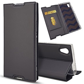 cheap Sony-Case For Sony Xperia Z5 Mini / Xperia XZ Card Holder / with Stand / Flip Full Body Cases Solid Colored Hard PU Leather for Sony Xperia Z5 / Sony Xperia Z5 Compact / Z5 Mini