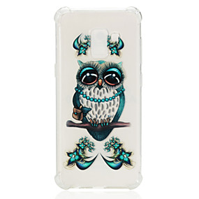 voordelige Galaxy A7(2016) Hoesjes / covers-hoesje Voor Samsung Galaxy A3 (2017) / A5 (2017) / A7 (2017) Schokbestendig / Transparant / Patroon Achterkant Uil Zacht TPU
