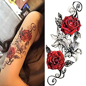 ieftine Tatuaje Temporare-3 pcs Acțibilde de Tatuaj Tatuaje temporare Serie de Flori / Romantic Series Arta corpului Corp / umăr / Picior