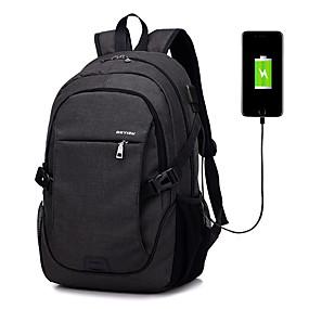 """economico Accessori per PC e Tablet-LITBest 15 """"Laptop Zainetti Terylene Tinta unita per ufficio commerciale per colleage e scuole Per viaggiare con foro di ricarica / porta di ricarica USB"""