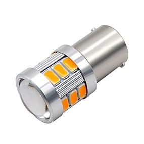 voordelige Auto-achterverlichting-SO.K 2pcs 1156 Motor / Automatisch Lampen 3 W SMD 5730 300 lm 18 LED Dagrijverlichting / Richtingaanwijzerlicht / Motor For Universeel Alle jaren